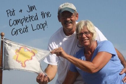 """""""Crossing your wake"""" or completing the Great Loop is a huge accomplishment!  www.GreatLoop.org"""