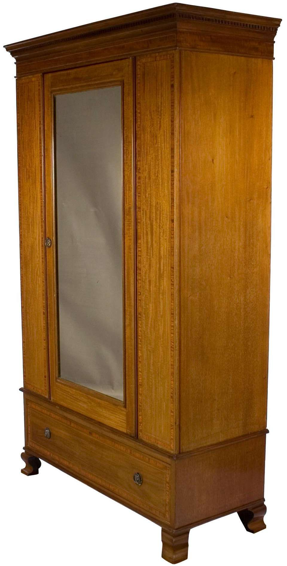 Edwardian Period Mirror Door Wardrobe Armoire Closet #edwardianperiod