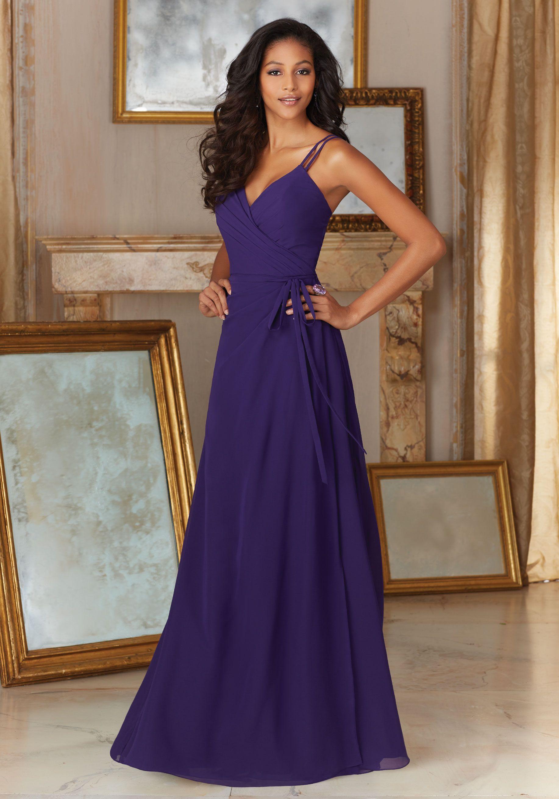 Lujoso Vestidos De Dama De Gasa Azul Marino Modelo - Vestido de ...