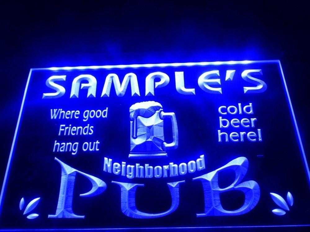 DZ008- Neighborhood Home Bar Pub Beer LED Neon Light Sign