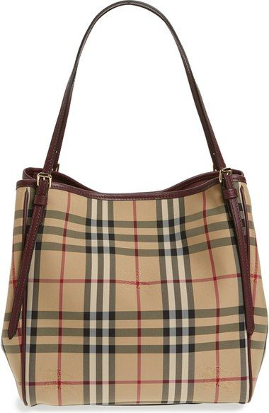 fef0385a2e65 Burberry  Small Canter  Horseferry Check  amp  Leather Tote available ...