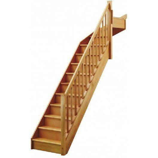 Escalier Soft Quart Tournant Haut Droit H274 Rampe Classic