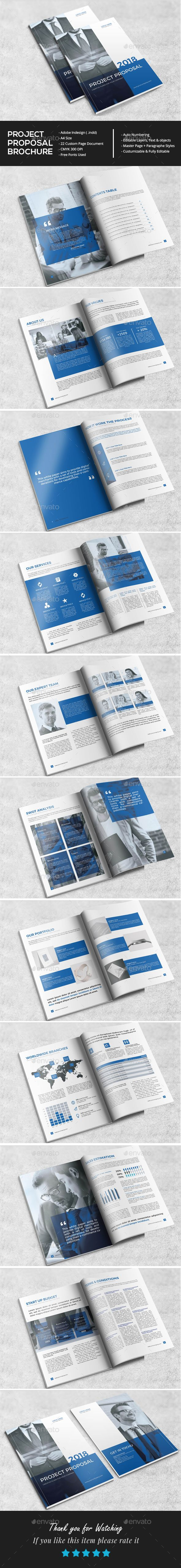 Professional Project Proposal Brochures Print Templates