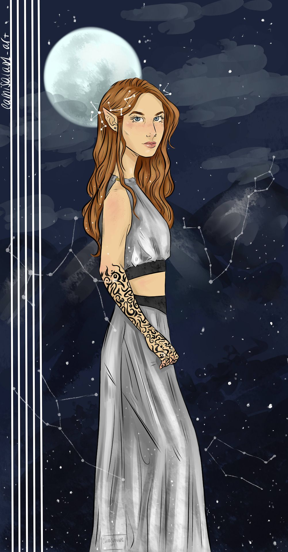 Feyre Art By Camisala01 Art On Tumblr With Images A Court Of