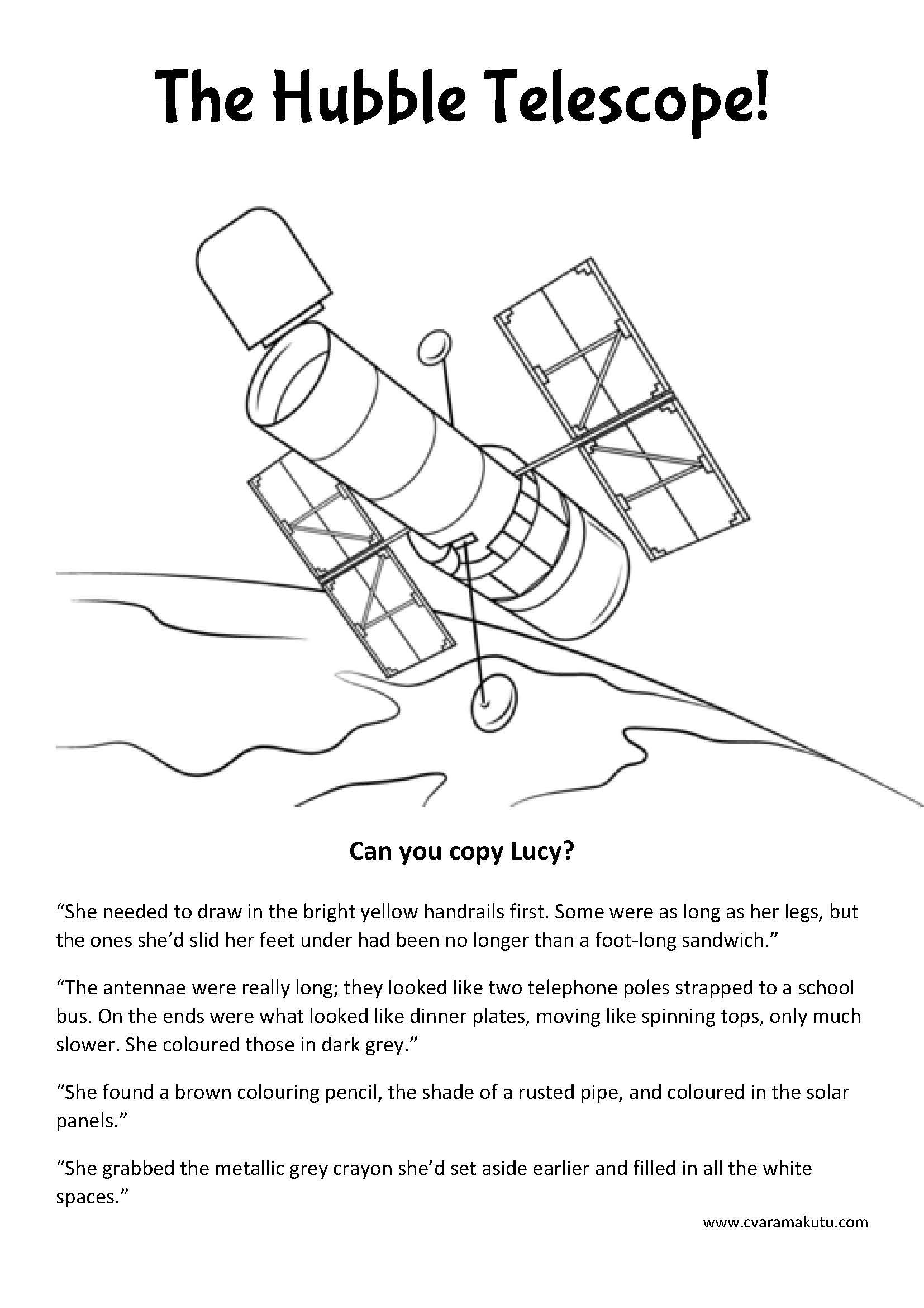 Free The Hubble Telescope Colour Page With Images