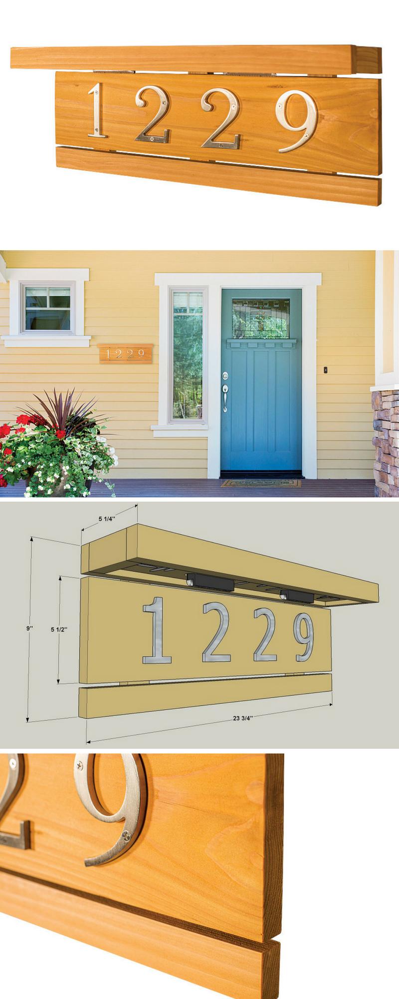 How to build a DIY Custom Lighted Address Plaque   Get the free ...