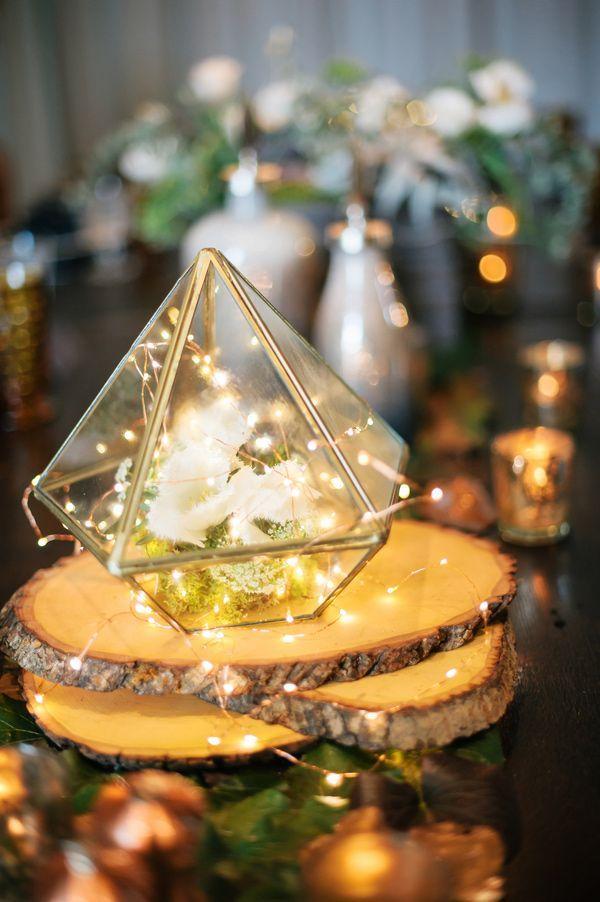 Geometric Centerpieces Terrarium Wedding Creative Wedding Centerpieces Geometric Terrarium Wedding