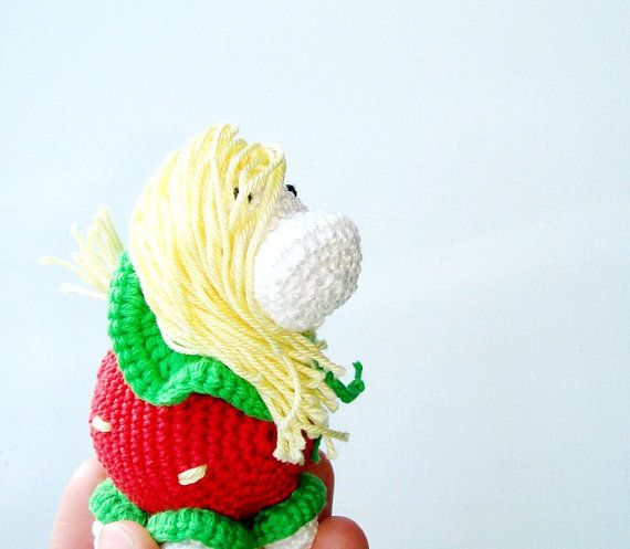 Listing for Melissa  Strawberry Pony  My by MiracleFromThreads, $27.00