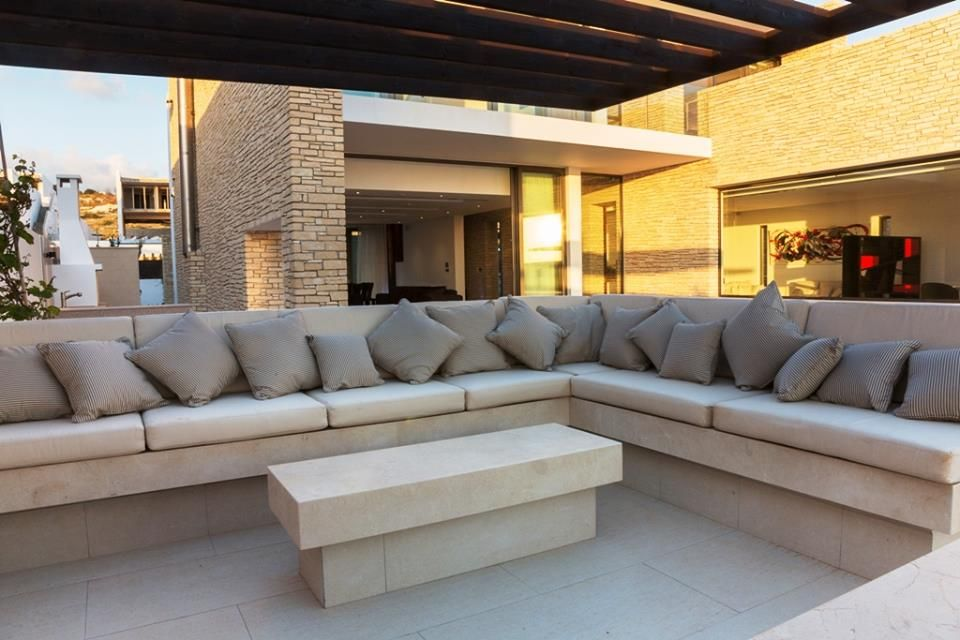 beautiful garden furniture at private villa for sale located at cap st georges cyprus - Garden Furniture Cyprus