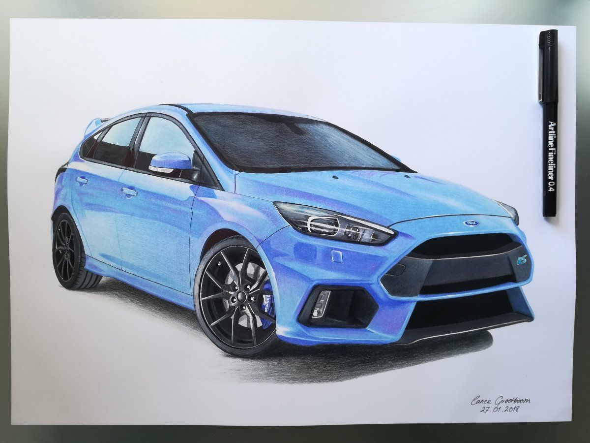 Ford Focus Rs Car Drawings By Lance Ford Focus Car Drawings