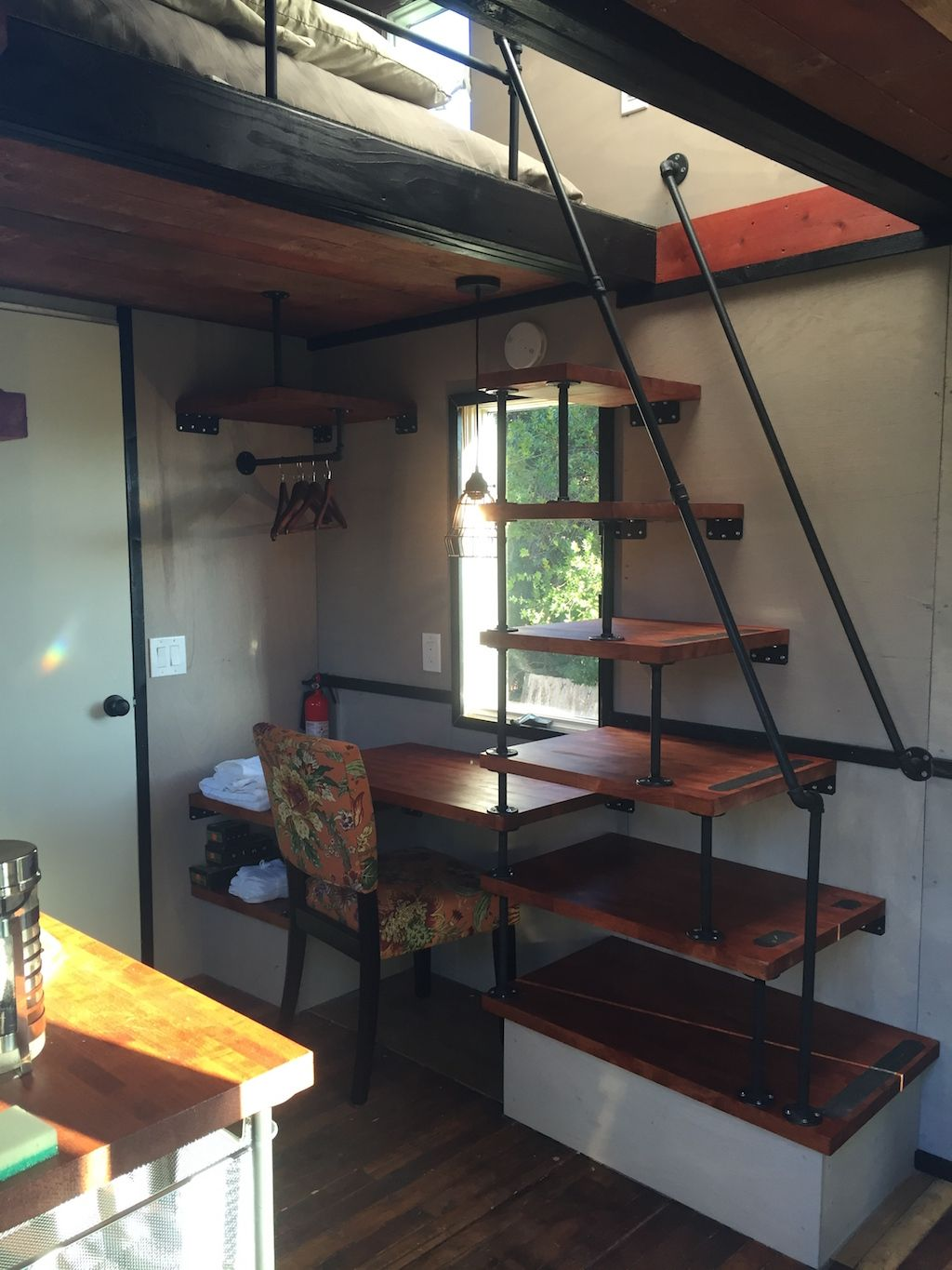 Tiny House Stairs hergert rich the cabin man tiny house with built in stairs storage The Best Tiny House Build