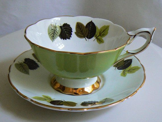Photo of Royal Stafford Bone China Tea Cup and Saucer English Teacup | Etsy