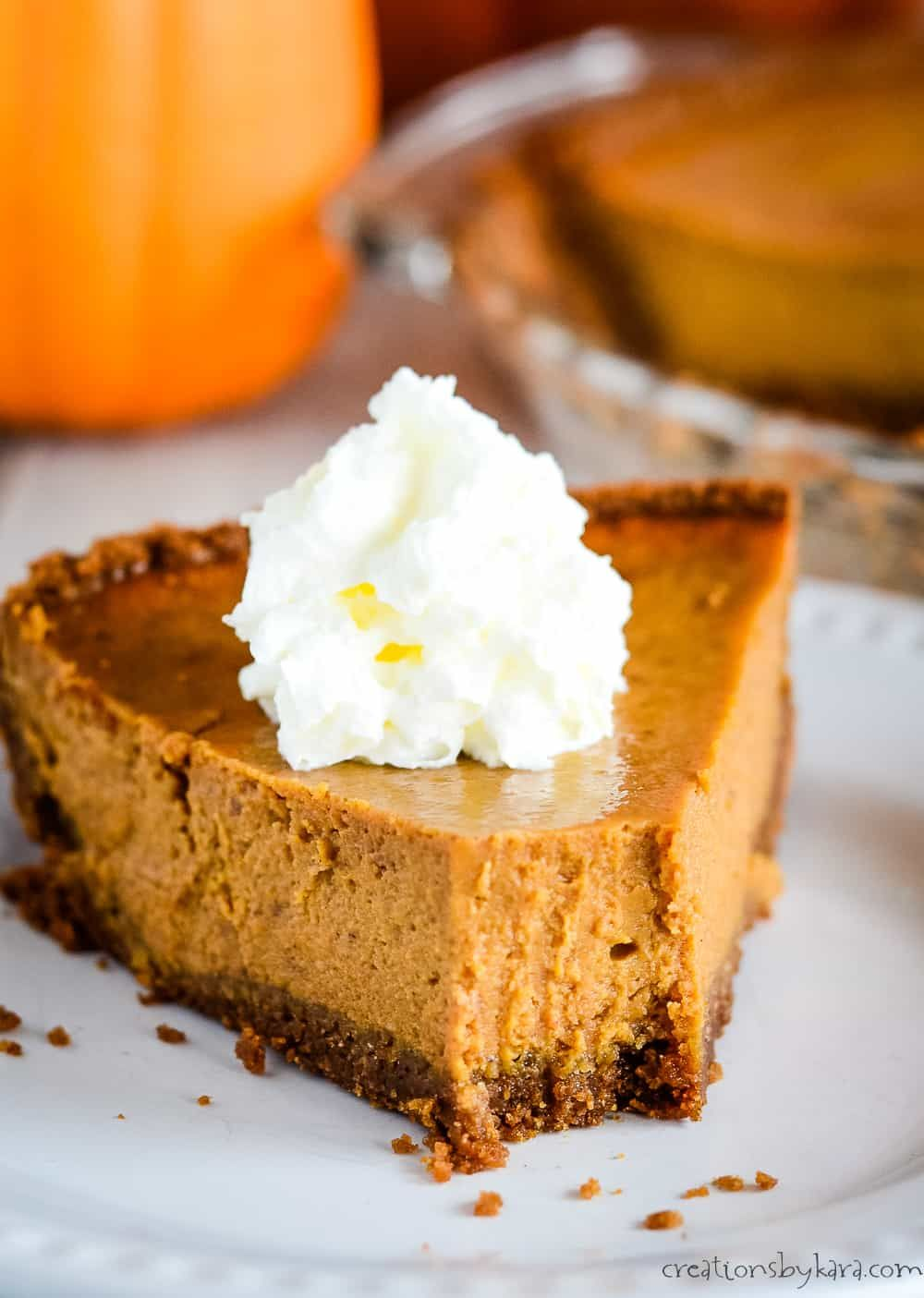 Pumpkin Pie With Sweetened Condensed Milk Is Incredibly Easy To Make And Tastes Fantastic A Bisco Pumpkin Pie Recipes Pumpkin Pie Recipe Easy Easy Pie Recipes