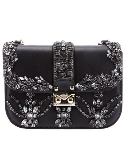0efb7b7fd92 VALENTINO Crystal Embellished Shoulder Bag