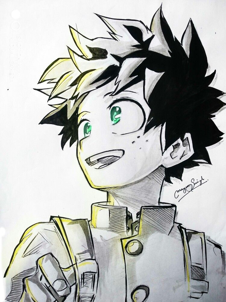 Deku By Mayursingh007 Me On Deviantart Deku My Hero Academia Izuku Midoriya Hero Anime Tattoos My Hero Academia
