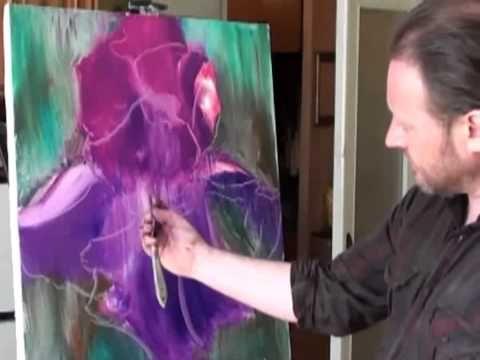 Igor Sakharov: Iris (artist video tutorial painting drawing lesson) - YouTube