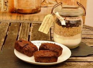 Schokoladige Lebkuchen Brownies als Backmischung im Glas