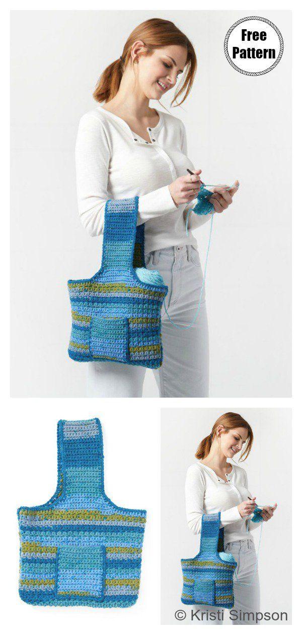 Carry Yarn Bag Free Crochet Pattern