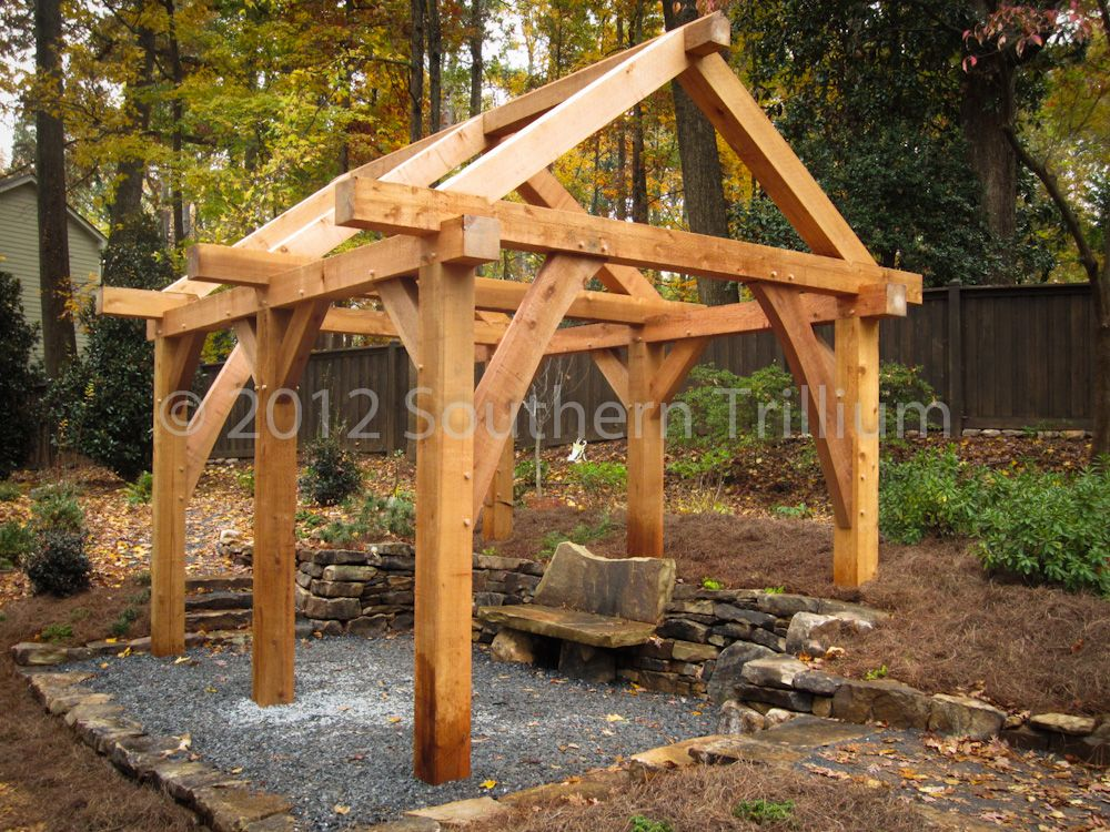 Timber frame garden structure garden structures gardens for Outdoor structure plans