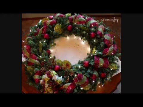 How to make a large lighted outdoor wreath a pinch of joy how to make a large lighted outdoor wreath a pinch of joy aloadofball Image collections