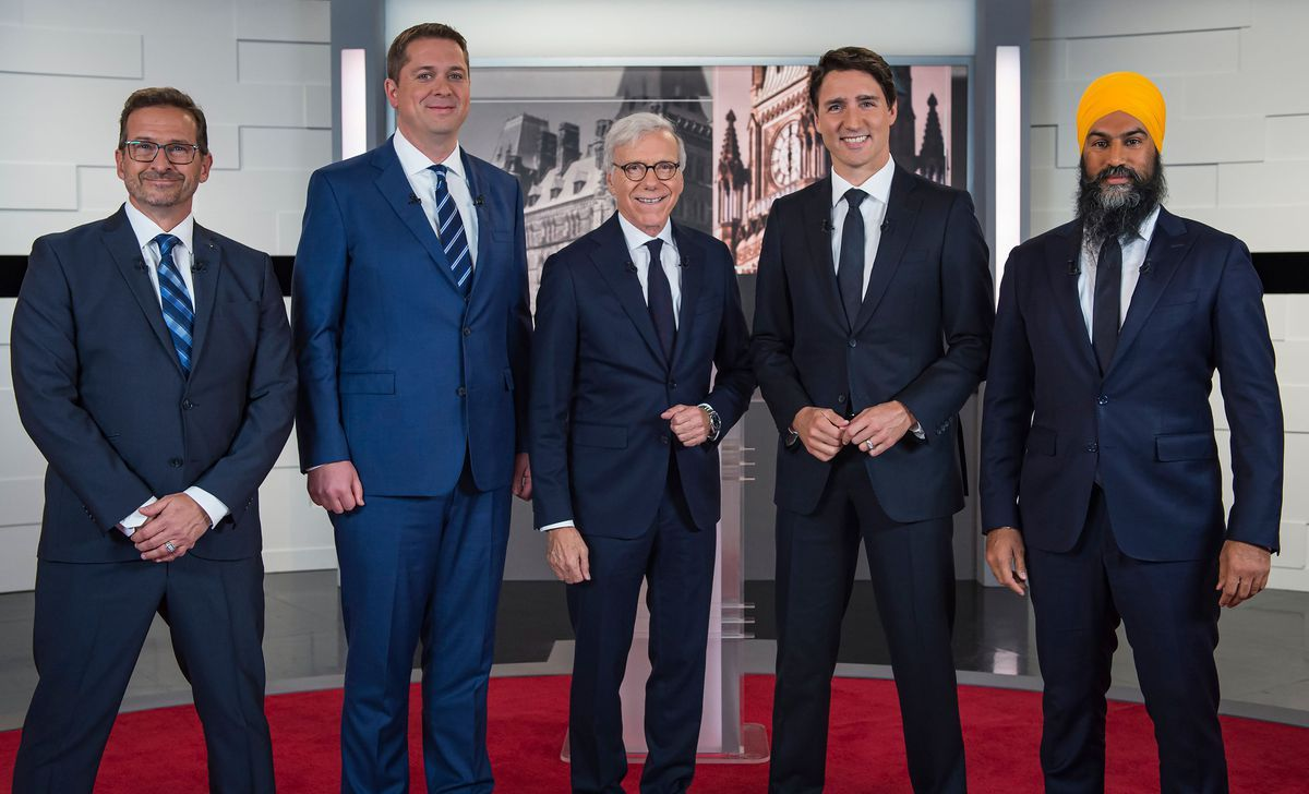Federalist Leaders Take Aim At Bloc Quebecois In First French Language Debate The Globe And Mail French Language Toronto Girls Justin Trudeau