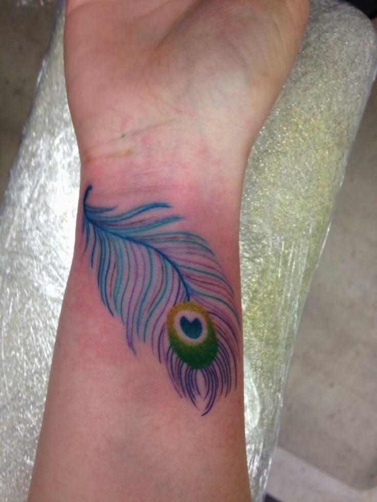 Peacock Feather Tattoo Ideas Peacock Feather Tattoo On Wrist