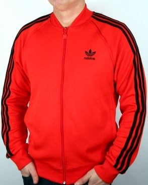 ed41a5596 Adidas Originals Superstar Track Top Core Red | Adidas in 2019 ...