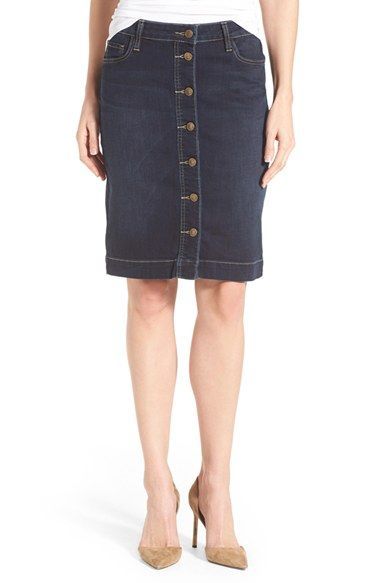 Women's KUT from the Kloth 'Rosie' Button Front Denim Skirt ...