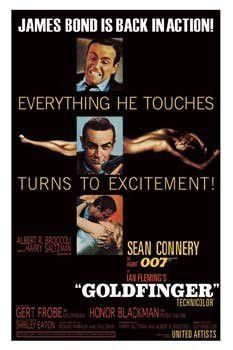 GOLDFINGER MOVIE POSTER James Bond RARE HOT NEW 24X36