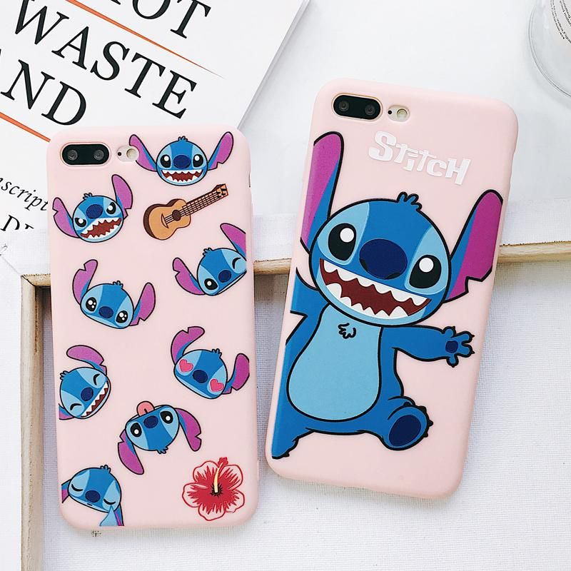 Happy Stitch Phone Case For Iphone6 6s 6p 7 7p 8 8plus X Xs Xr Xs Max Cute Iphone 7 Cases Iphone Phone Cases Disney Phone Cases