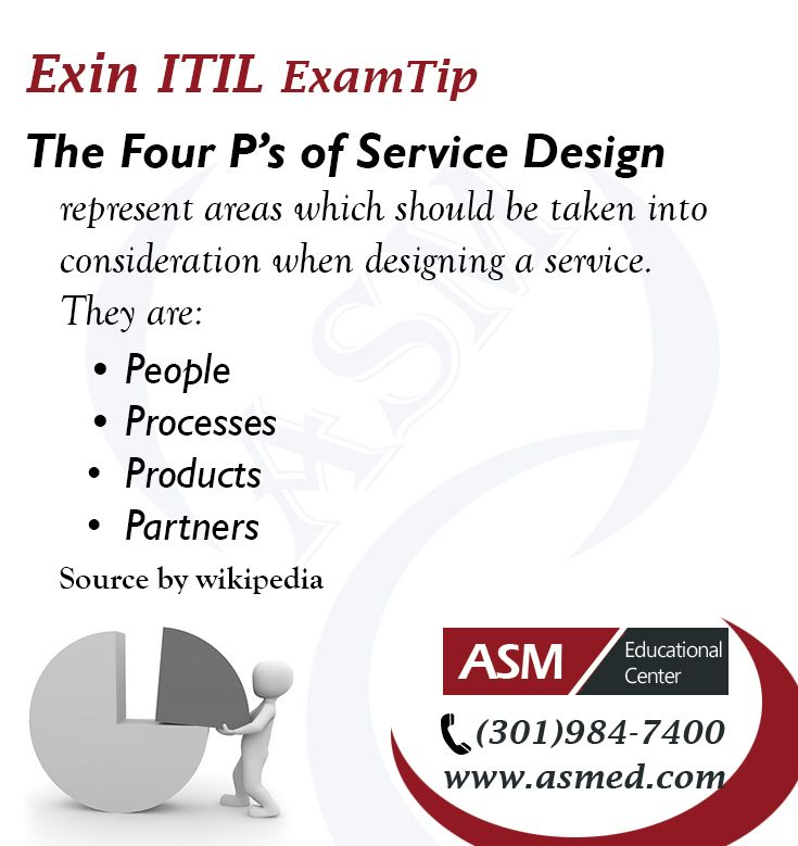 Exin Itil Certification Traning Exam Tip The Four Ps Of Service