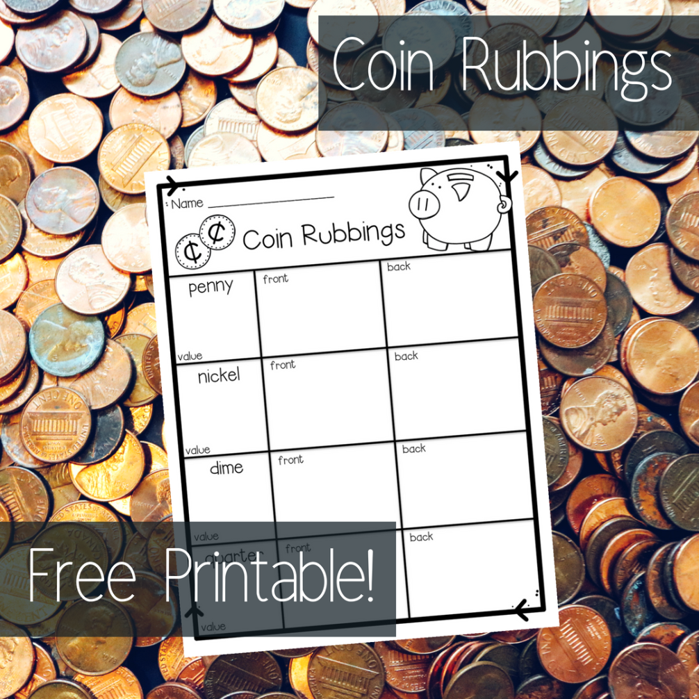 Introduce Coins To Your Kindergarten And First Grade Students With Coin Rubbings Your Students Wil Kindergarten Money Activities Money Kindergarten Money Math [ 1006 x 1006 Pixel ]