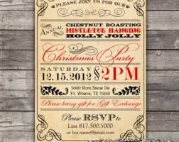 vintage christmas party invitations google search invites