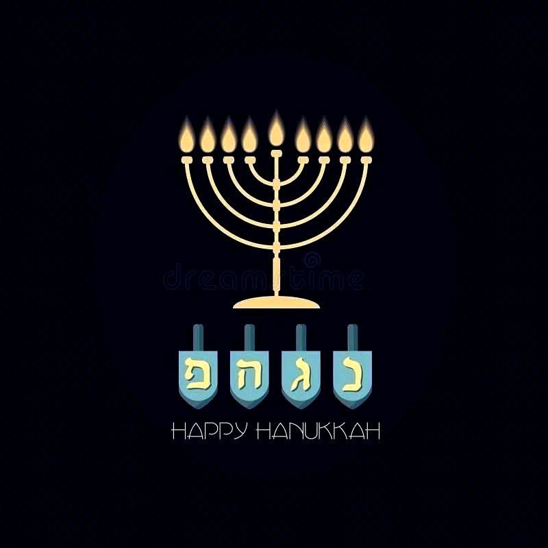 Background With Candles, Menorah And Dreidel. Stock Vector - Ill... Vector Hanukkah Background Wit