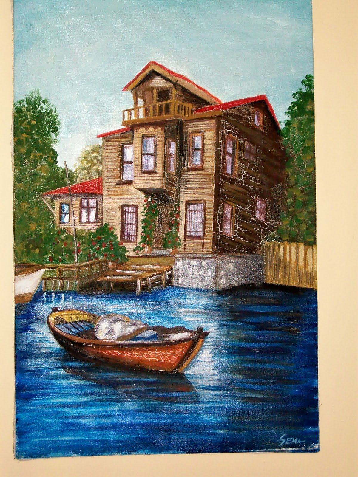 Yagli Boya Tablolari 1 Jpg 1200 1600 Landscape Painting Tutorial Landscape Paintings Oil Painting Pictures