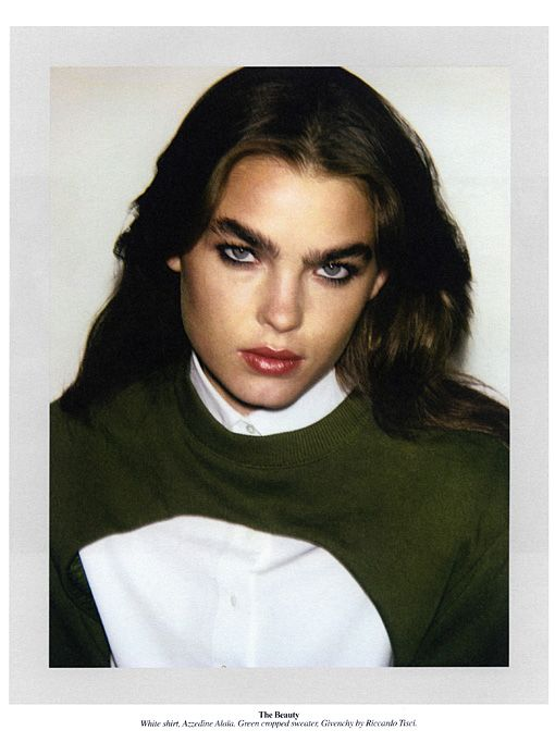 Love the Thick Brow!  Bambi Northwood-Blyth | Self Service Issue 36 Spring / Summer 2012