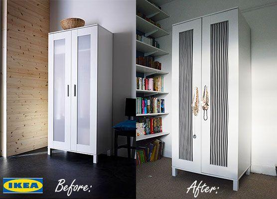 Upcycling an Ikea Aneboda Wardrobe with DIY fabric doors - tutorial ...