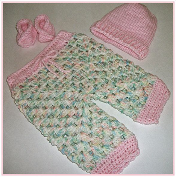 Baby girl\'s Clothing pink set / pants /hat/ by nanaslittlestitches ...