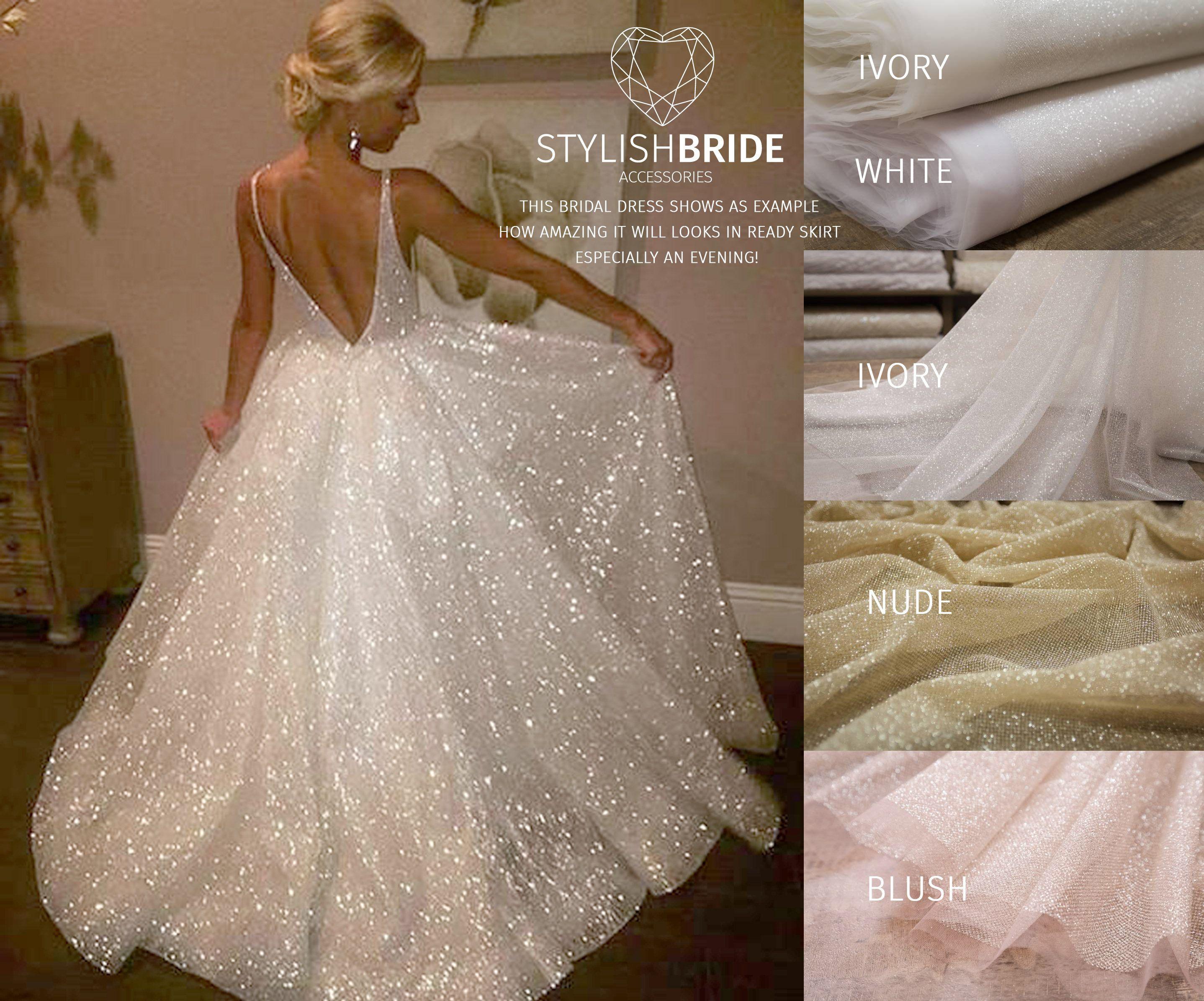 Amazing Sparkle Shimmering Tulle Skirt Bridal Glitter Evening Etsy Glitter Wedding Dress Wedding Dresses Sparkle Wedding Dress [ 2392 x 2876 Pixel ]