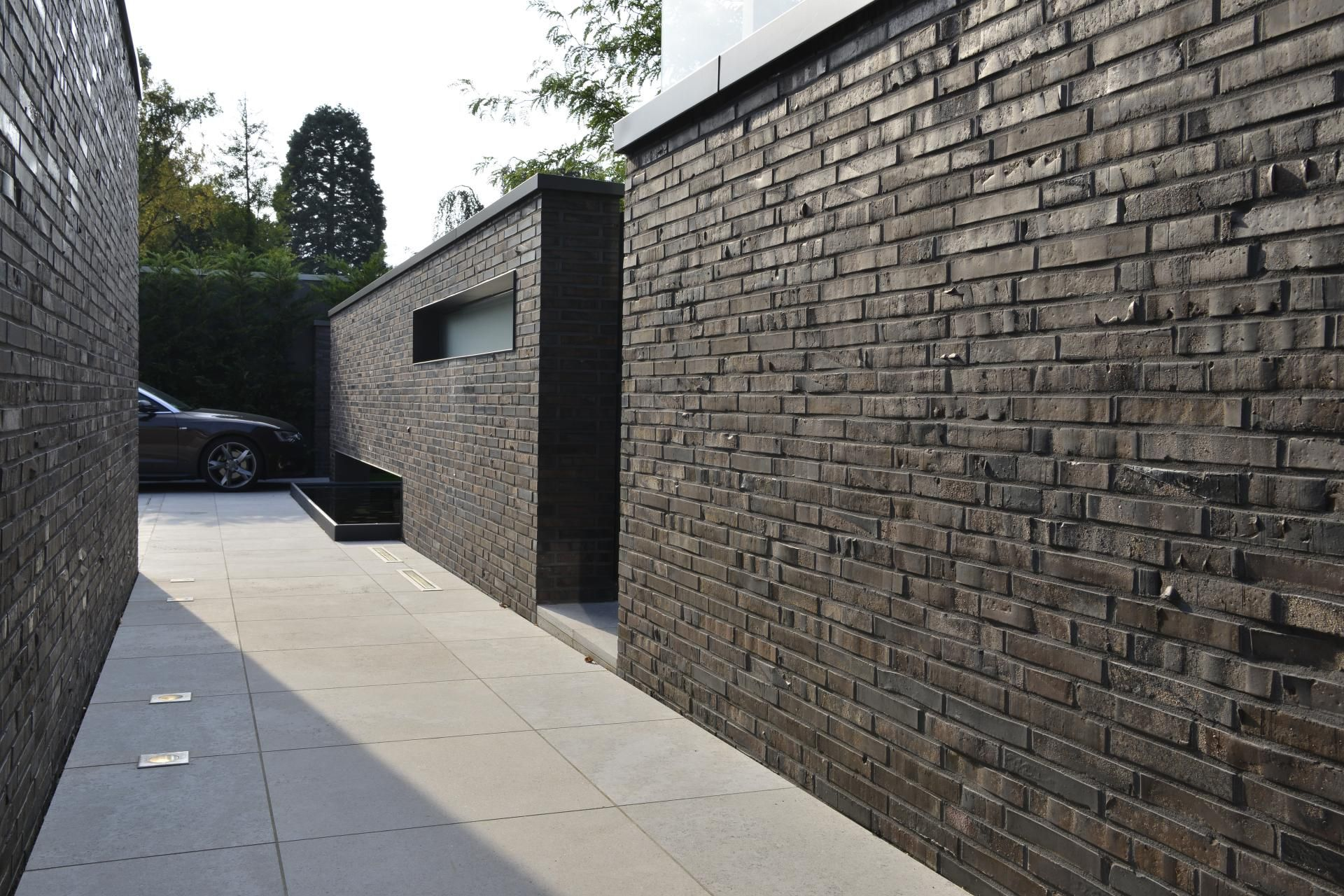 Gartenmauer Haus K Gillrath Klinker Gillrath Bricks Fassade Klinker Klinker Backsteinhauser