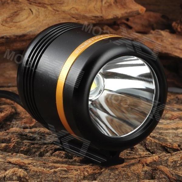 WindFire 360 Degree Rotary 500lm 1-LED Cool White 5-Mode Bike Lamp - Black (4.2~5.2V)