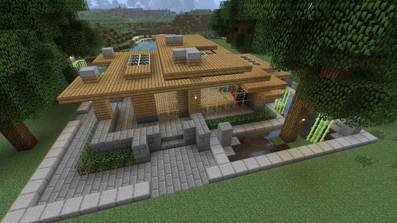 Minecraft Tutorial Hd Modern Survival House 2 Minecraft Project Minecraft House Tutorials Minecraft Houses Survival Minecraft Survival