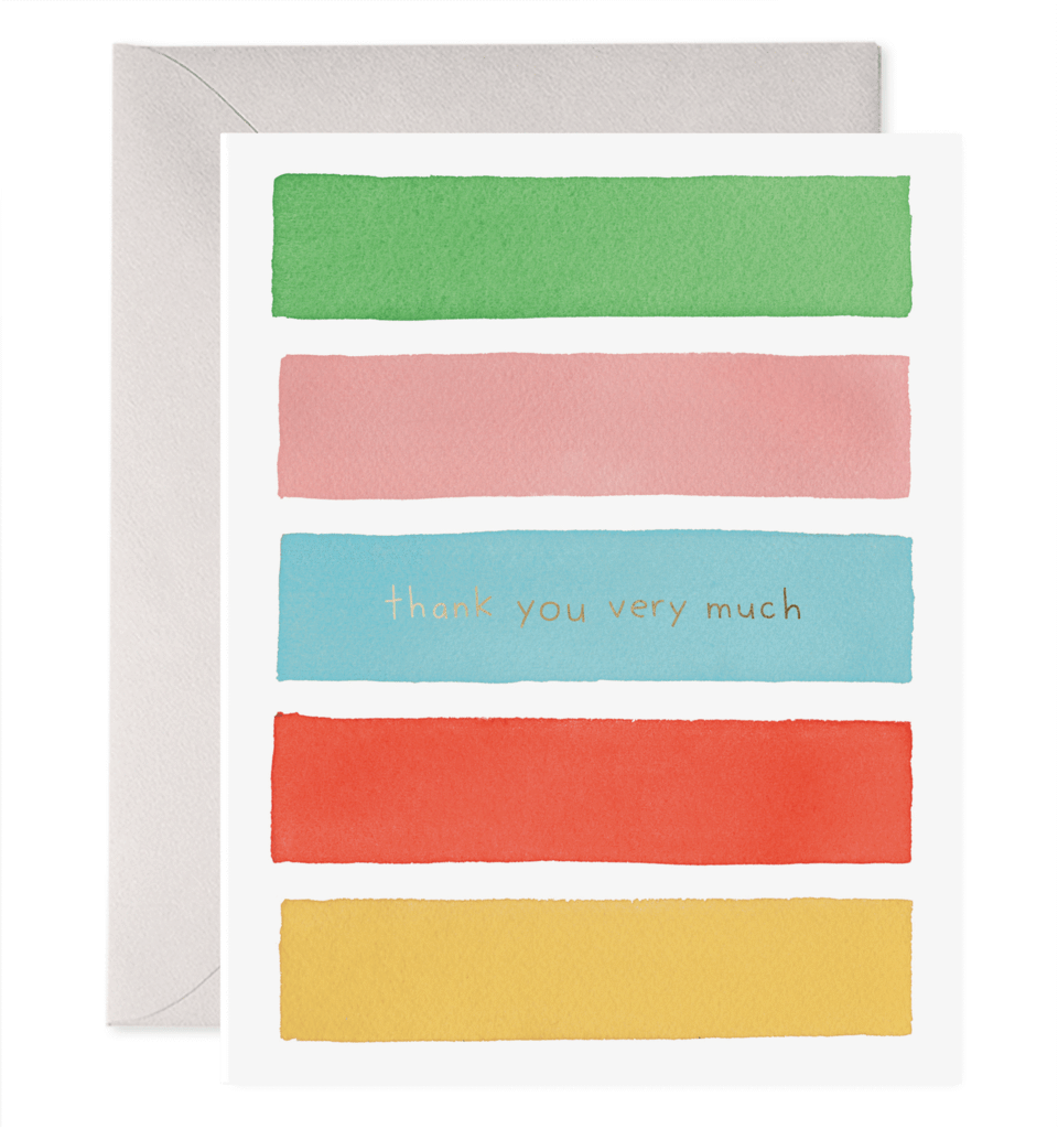 Color Bars Thank You Card In 2021 Color Palette Pink Color Palette Yellow Color Palette Bright