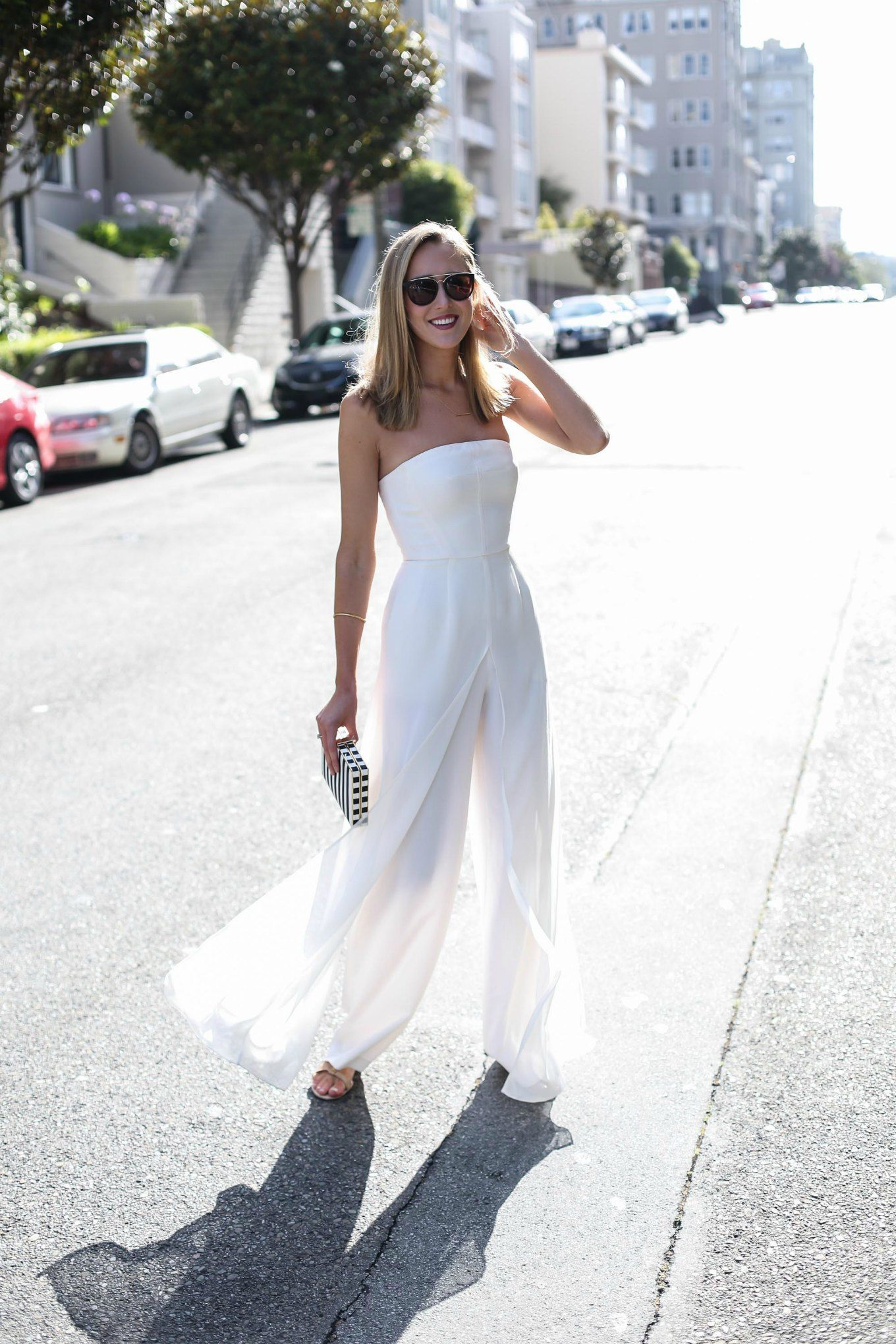 9c353561c9 White Strapless Jumpsuit for Our Anniversary - MEMORANDUM
