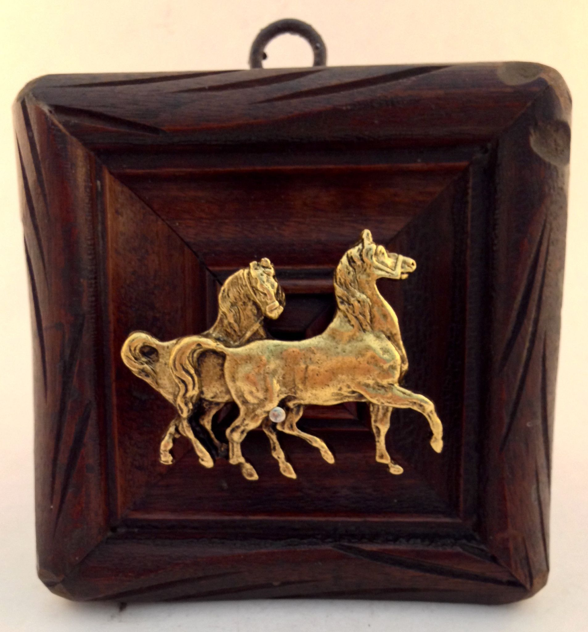 Square wooden frame with horses products pinterest wooden