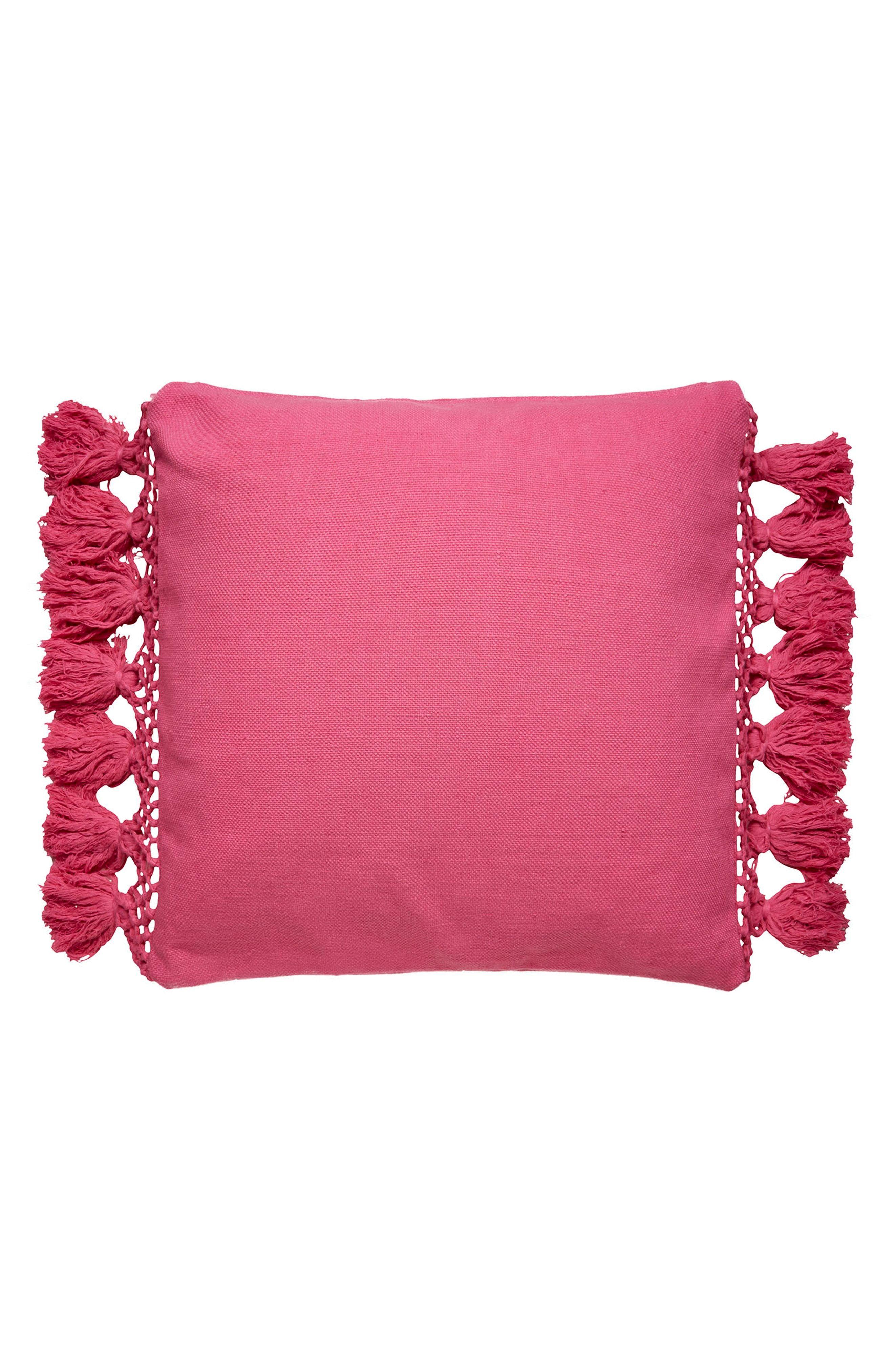 Kate Spade New York Tassel Pillow Elegant Throw Pillows Pink Accent Pillow Pink Throw Pillows