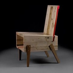 """Shut up chair ismade out of solid derelicted wood. The """"open mouth"""" design holds it's idea to give space for thingsyou use when sitting down..."""