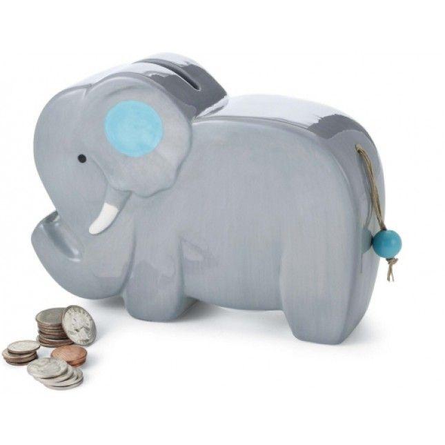 Safari elephant baby piggy bank by mud pie workby baby safari elephant baby piggy bank by mud pie negle Gallery