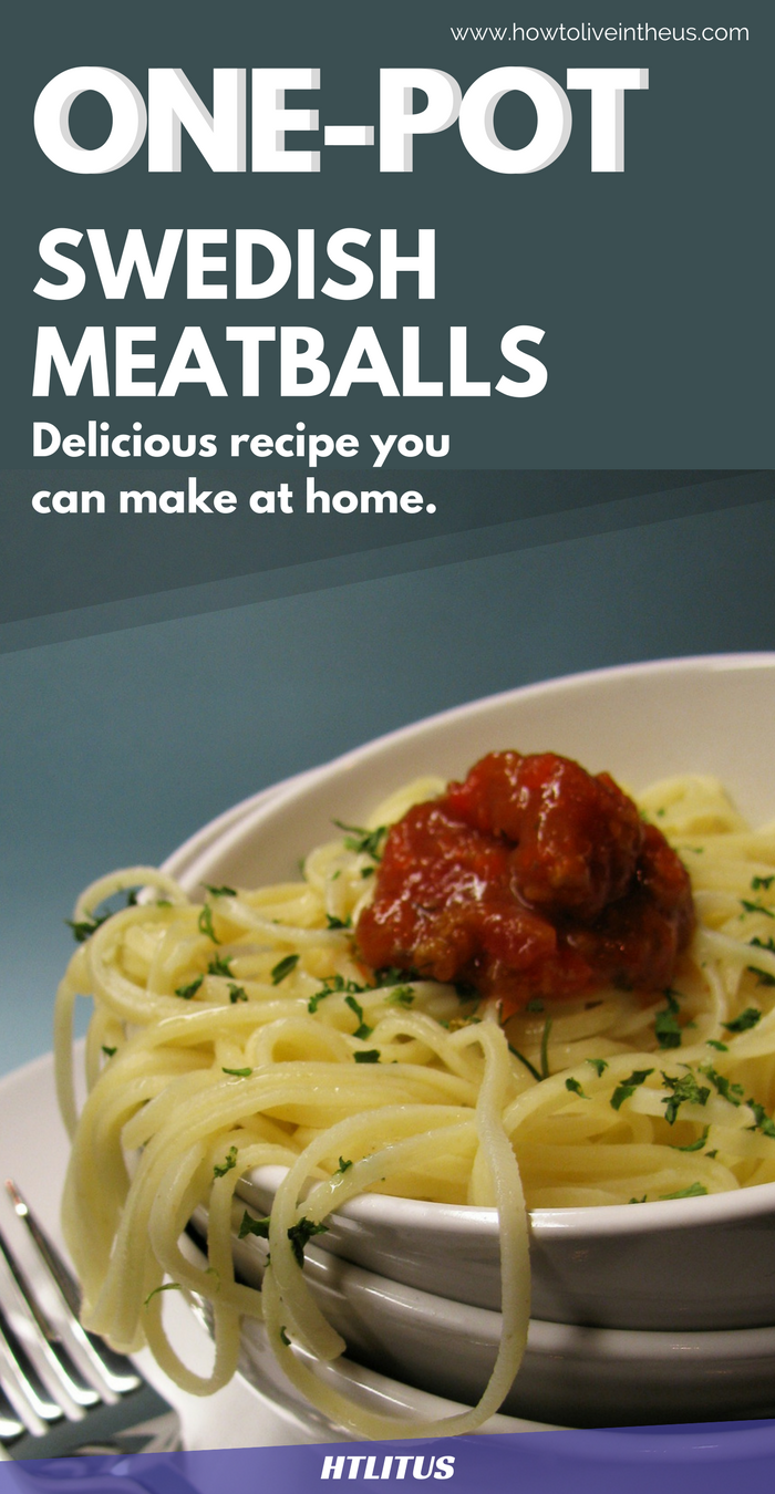 If you love pasta and meatballs, you're absolutely going to love this delicious dinner or lunch recipe. www.howtoliveintheus.com