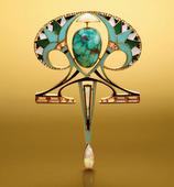 18 Karat Gold, Colored Stone, Diamond and Enamel Pendant-Brooch, Georges Fouquet,  circa 1910
